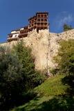 Hangend huis in Cuenca stock afbeeldingen