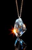 Hangend kristal stock afbeelding