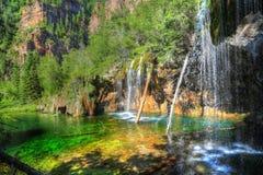 Hangend Meer, Glenwood Springs, Colorado stock foto's