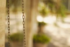 Hangend staalspoor stock fotografie