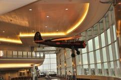 Hangend Vliegtuig royalty-vrije stock afbeelding