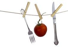 Hangend voedsel Stock Foto's