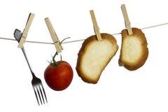 Hangend voedsel Royalty-vrije Stock Afbeeldingen