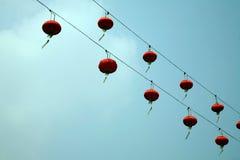 Hangende Chinese lantaarns royalty-vrije stock afbeeldingen