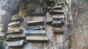 Hangende Doodskisten van Sagada Filippijnen, Luzon stock afbeelding