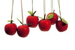Hangende fruitornamenten Stock Foto