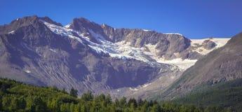 Hangende gletsjer Stock Fotografie