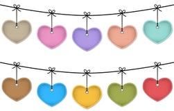 Hangende harten Royalty-vrije Stock Afbeelding