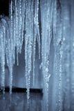 Hangende ijskegels in selenium II. Royalty-vrije Stock Fotografie