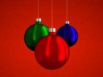 Hangende Kerstmisballen Stock Fotografie