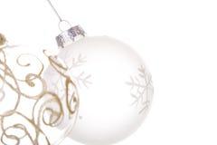 Hangende Kerstmisballen Royalty-vrije Stock Afbeelding
