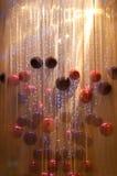 Hangende Kerstmisballen Royalty-vrije Stock Foto's