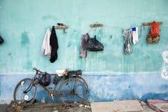 Hangende kleren Stock Afbeelding