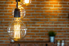 Hangende lamp Stock Foto