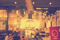 Hangende lamp - uitstekend effect Stock Fotografie