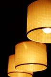 Hangende Lampen stock afbeelding