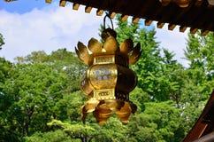 Hangende lantaarn van Japans heiligdom, Kyoto Japan Stock Foto's