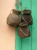Hangende manden Royalty-vrije Stock Foto