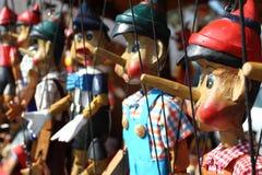 Hangende met de hand gemaakte marionet Royalty-vrije Stock Afbeelding