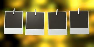 Hangende Polaroid- Galerij Royalty-vrije Stock Afbeelding