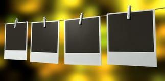 Hangende Polaroid- Galerij Royalty-vrije Stock Fotografie