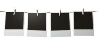Hangende Polaroid- Galerij Royalty-vrije Stock Foto