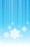 Hangende Sneeuwvlokken stock illustratie