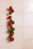 Hangende Spaanse peperpeper Royalty-vrije Stock Afbeeldingen