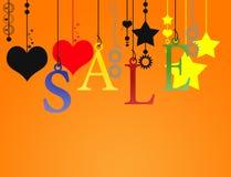Hangende verkoopbrief met het knippen van weg Stock Foto