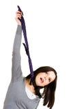 Hangende vrouw met band Royalty-vrije Stock Foto