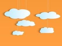 Hangende Wolken royalty-vrije illustratie