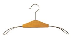 Hanger. Isolated over white background Stock Photo