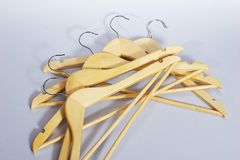 Hanger. Some hangers with shadows royalty free stock image