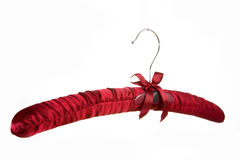 Hanger. Red hanger on white background Stock Images