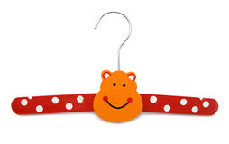 Hanger for children clothes Stock Photography