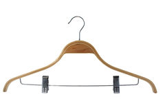 Hanger for clothes. Of dark blue colour on a white background Royalty Free Stock Image
