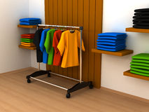 Hanger with clothes any color Royalty Free Stock Photo