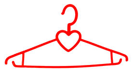 Hanger for clothes favourite. Stock Image