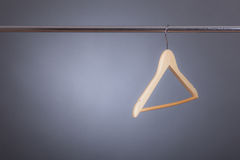 Hanger on a clothes rack Royalty Free Stock Photo