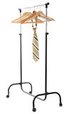 Hanger for clothes with tie Stock Photography