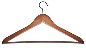 Hanger from dark wood Royalty Free Stock Photos