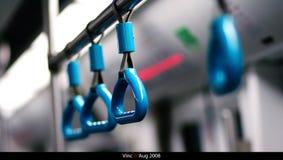 Hanger in de metro stock foto's