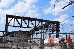 Hanger demolition at LaGuardia Airport Royalty Free Stock Photos