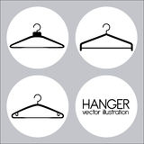 Hanger design Royalty Free Stock Images