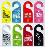 Hanger door design Stock Images