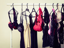 Hanger with female lingerie Stock Photography