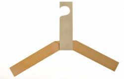 Coat Hanger. Hanger handmade from recycle paper Stock Photo