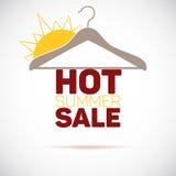 Hanger, hot summer sale poster Stock Photos