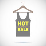 Hanger, hot summer sale poster Royalty Free Stock Image