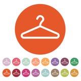 The hanger icon. Coat rack symbol. Flat Stock Photo